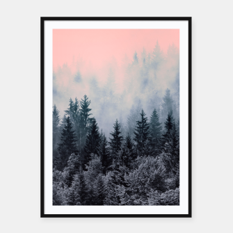 Forest in gray and pink Cartel con marco thumbnail image