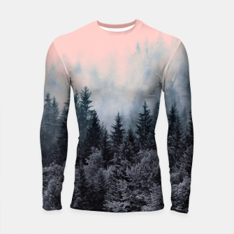 Forest in gray and pink Longsleeve Rashguard thumbnail image