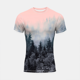 Forest in gray and pink Shortsleeve Rashguard thumbnail image