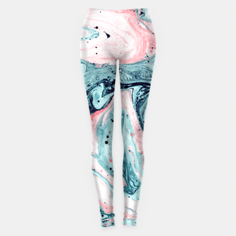 Thumbnail image of  Marbled tide painted blue and pink Leggings, Live Heroes