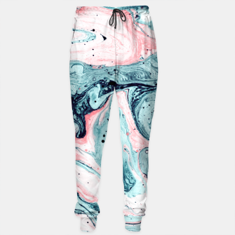 Thumbnail image of  Marbled tide painted blue and pink Pantalones de chándal, Live Heroes