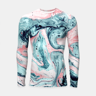 Thumbnail image of  Marbled tide painted blue and pink Longsleeve Rashguard, Live Heroes