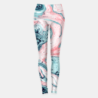 Miniatur  Marbled tide painted blue and pink Leggings, Live Heroes