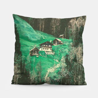mountain huts Pillow obraz miniatury