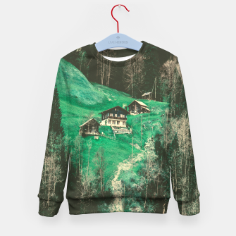 mountain huts Kid's Sweater obraz miniatury