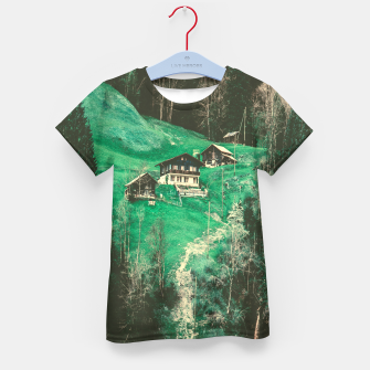 mountain huts Kid's T-shirt obraz miniatury
