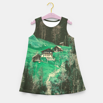 mountain huts Girl's Summer Dress obraz miniatury