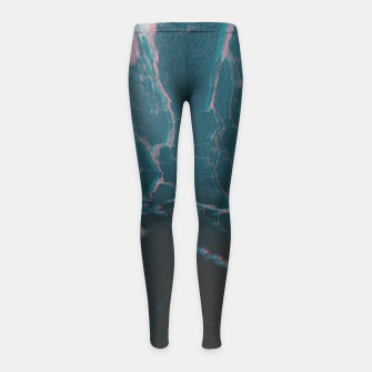 Miniaturka marbled ice Girl's Leggings, Live Heroes