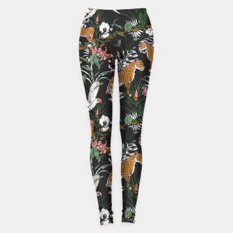 Thumbnail image of Leopards at night Leggings, Live Heroes