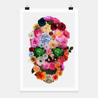 Thumbnail image of Floral Skull Poster, Live Heroes