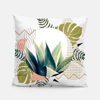 Thumbnail image of Abstract geometrical and botanical shapes Almohada, Live Heroes