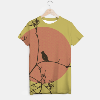 Thumbnail image of Bird on a branch T-shirt, Live Heroes