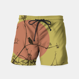 Thumbnail image of Bird on a branch Swim Shorts, Live Heroes