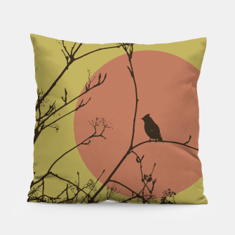 Thumbnail image of Bird on a branch Pillow, Live Heroes