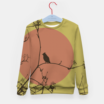Thumbnail image of Bird on a branch Kid's Sweater, Live Heroes