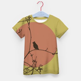 Thumbnail image of Bird on a branch Kid's T-shirt, Live Heroes