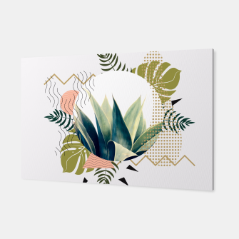 Thumbnail image of Abstract geometrical and botanical shapes Canvas, Live Heroes