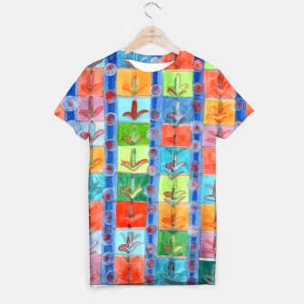 Thumbnail image of Colorful Planting Plants in Squares Pattern  T-shirt, Live Heroes