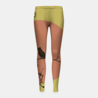 Thumbnail image of Bird on a branch Girl's Leggings, Live Heroes