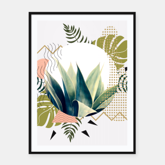 Thumbnail image of Abstract geometrical and botanical shapes Cartel con marco, Live Heroes