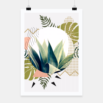 Thumbnail image of Abstract geometrical and botanical shapes Cartel, Live Heroes