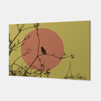 Thumbnail image of Bird on a branch Canvas, Live Heroes