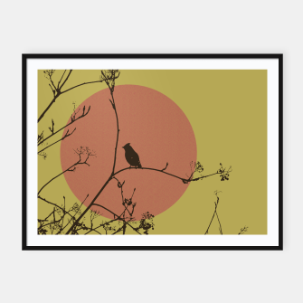 Thumbnail image of Bird on a branch Framed poster, Live Heroes