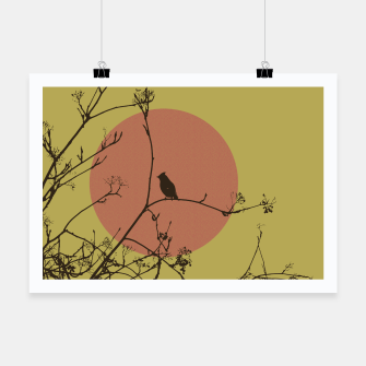 Thumbnail image of Bird on a branch Poster, Live Heroes