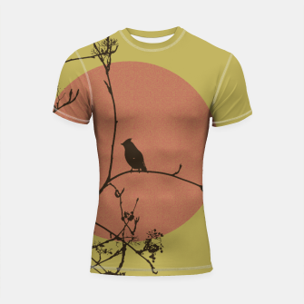 Thumbnail image of Bird on a branch Shortsleeve Rashguard, Live Heroes
