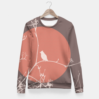 Thumbnail image of Bird on a branch 2 Fitted Waist Sweater, Live Heroes