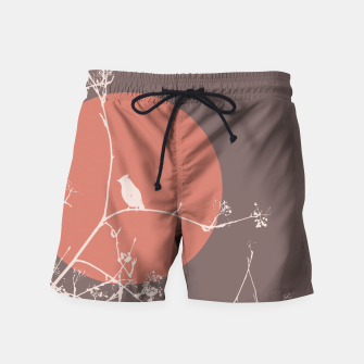 Thumbnail image of Bird on a branch 2 Swim Shorts, Live Heroes
