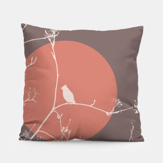 Thumbnail image of Bird on a branch 2 Pillow, Live Heroes