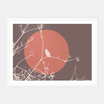 Thumbnail image of Bird on a branch 2 Framed poster, Live Heroes