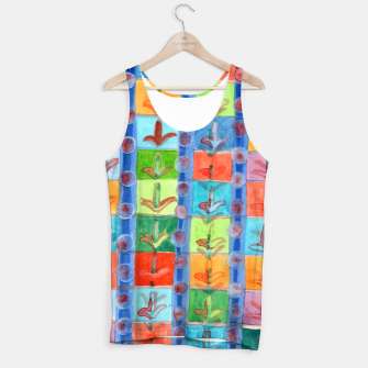 Thumbnail image of Colorful Planting Plants in Squares Pattern  Tank Top, Live Heroes