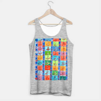 Thumbnail image of Colorful Planting Plants in Squares Pattern  Tank Top regular, Live Heroes