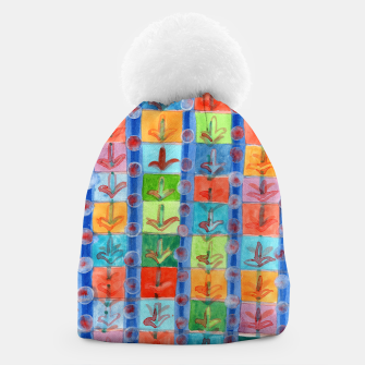 Thumbnail image of Colorful Planting Plants in Squares Pattern  Beanie, Live Heroes
