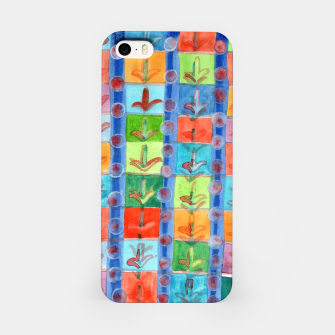 Thumbnail image of Colorful Planting Plants in Squares Pattern  iPhone Case, Live Heroes