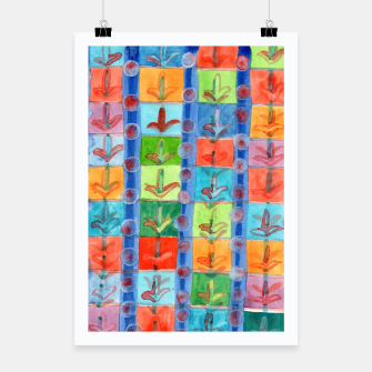 Thumbnail image of Colorful Planting Plants in Squares Pattern  Poster, Live Heroes