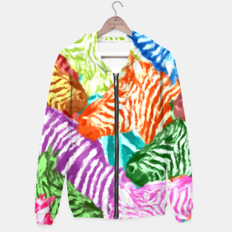 Miniaturka Beautiful colorful zebras africa wildlife background art Hoodie, Live Heroes