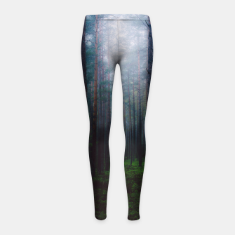 Thumbnail image of I will make you sleep Girl's Leggings, Live Heroes