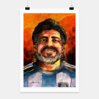Thumbnail image of Diego Maradona Poster, Live Heroes
