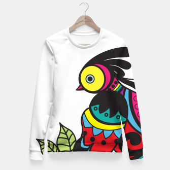 Miniature de image de Intricate Birds Fitted Waist Sweater, Live Heroes