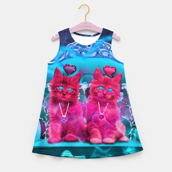 Thumbnail image of The Heart Kittens Girl's Summer Dress, Live Heroes