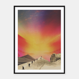 Thumbnail image of The Hike Framed poster, Live Heroes