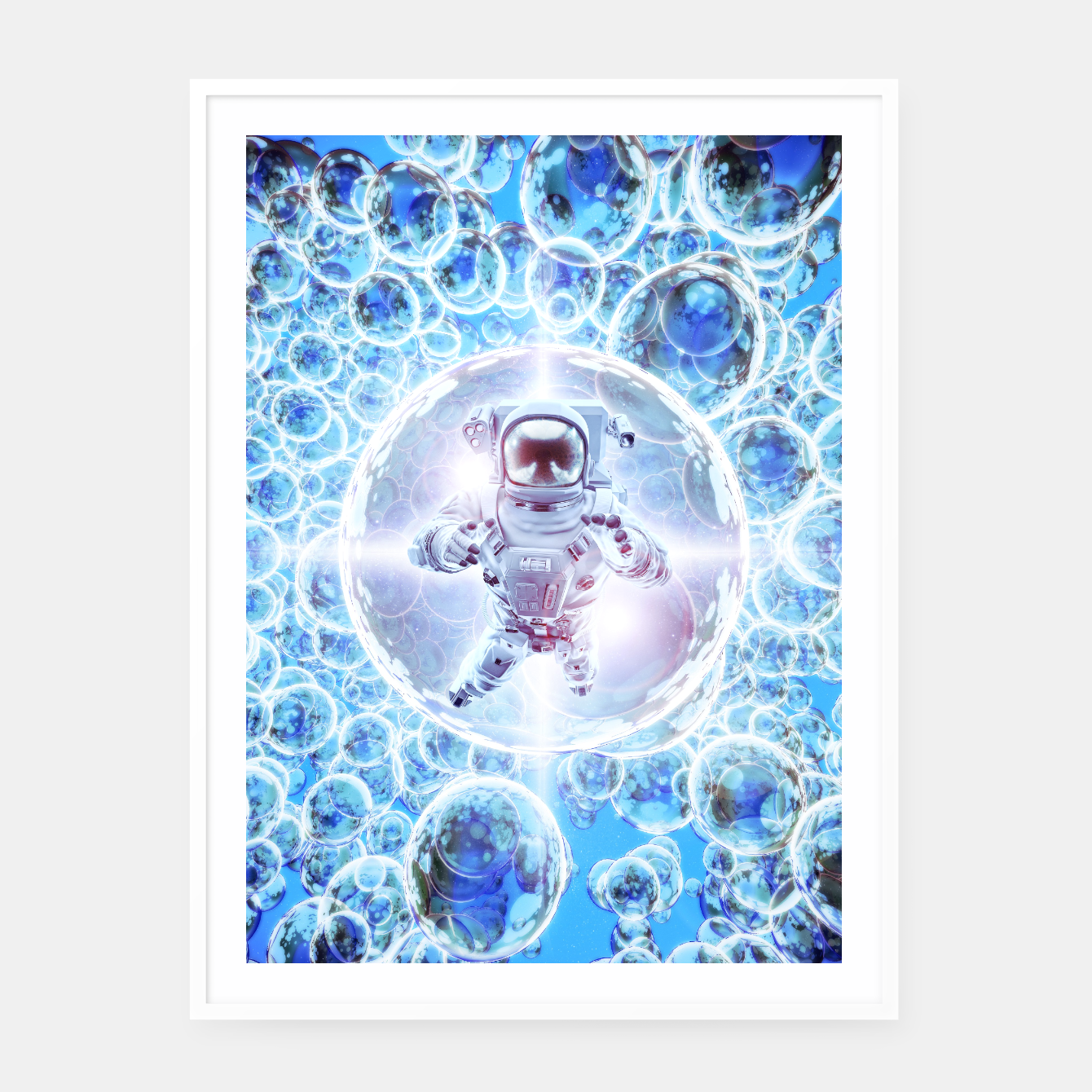 Image of Infinite Galaxy Framed poster - Live Heroes