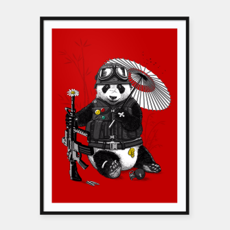 Thumbnail image of Soldier Panda Cartel con marco, Live Heroes