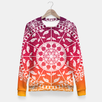 Miniatur Gwias Wildfire Mandala Fitted Waist Sweater, Live Heroes