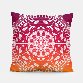 Miniatur Gwias Wildfire Mandala Pillow, Live Heroes
