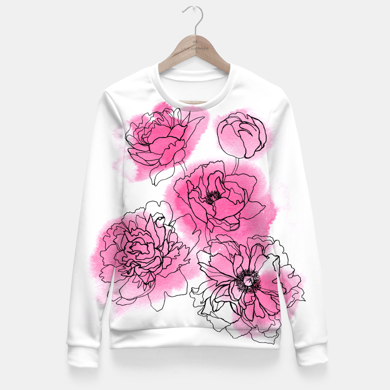 Image of Peony Fitted Waist Sweater - Live Heroes