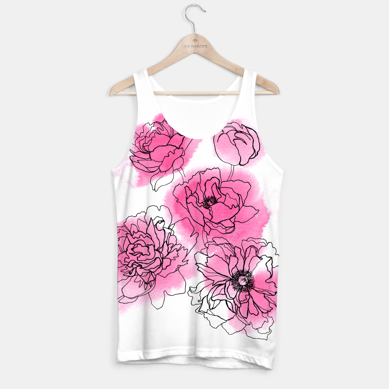 Image of Peony Tank Top - Live Heroes